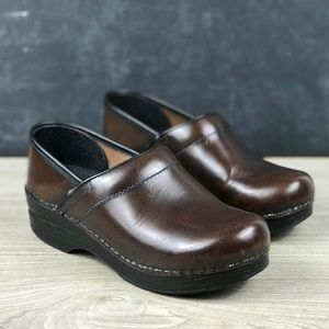 Dansko Brown Leather Clogs Size 37